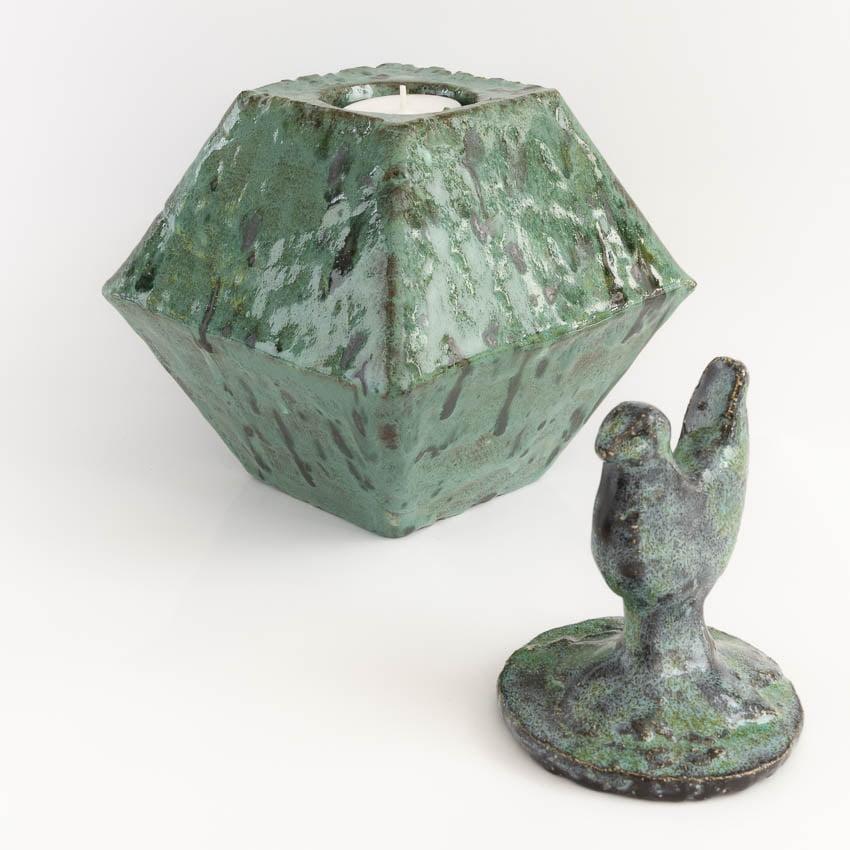 urn_kleine_mini_keramiek_bijzondere_effectglazuur_waxinelichtje_handwerk