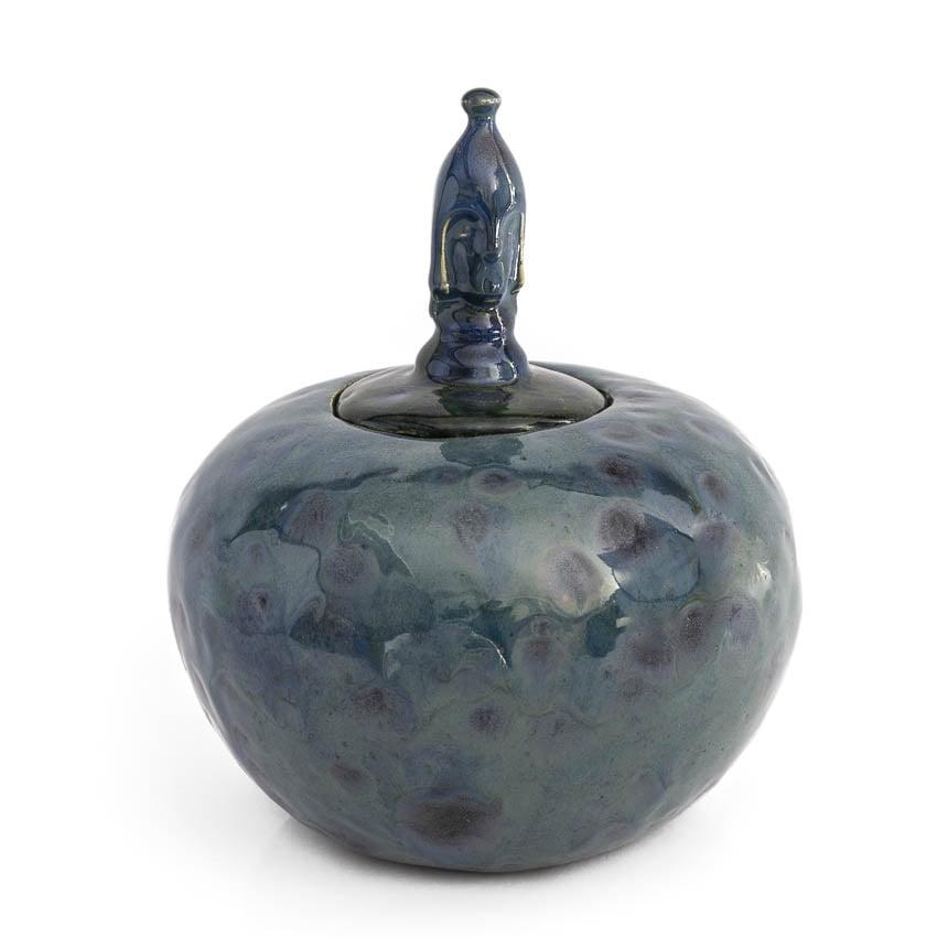 urn_keramiek_keramische_bijzondere_blauw_effectglazuur_handwerk