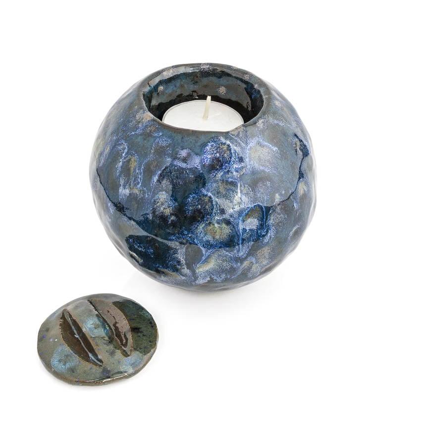 urn_mini_kleine_keramiek_keramische_bijzondere_blauw_effectglazuur_handwerk