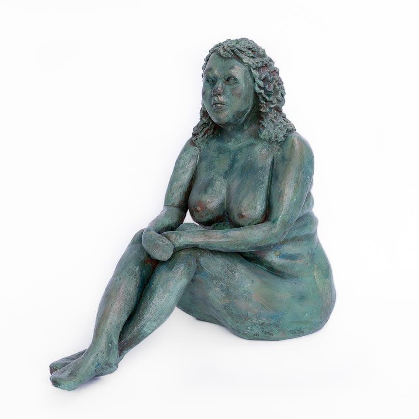 vrouwelijk_naakt_dikke_dame_keramiek_keramisch_beeld_bronstinten_uniek_bijzonder